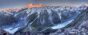 Colin Monteath - Sunrise on Mount Sefton and Mount Cook above Hooker Valley, Mount Cook National Park, New Zealand