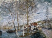 Alfred Sisley - Flood at Moret (Inondation a Moret), 1879