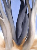 Georgia O'Keeffe - Dark Tree Trunks, 1946