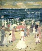 Maurice Brazil Prendergast - Sunday on the Beach, ca. 1896-1898