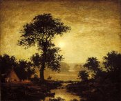 Ralph Albert Blakelock - Moonlight, ca. 1885-1889