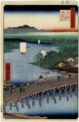 Hiroshige Ando - Senju Great Bridge, No. 103 from One Hundred Famous Views of Edo,1856