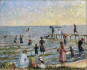 William Glackens - Bathing at Bellport, Long Island, 1912