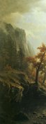 Albert Bierstadt - Sierra Nevada Morning 4 Panel - 1 of 4 - Left Side