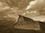Tim Fitzharris - Mormon Row Barn, Grand Teton National Park, Wyoming - Sepia