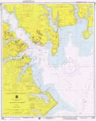 NOAA Historical Map and Chart Collection - Nautical Chart - Annapolis Harbor ca. 1975