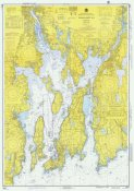 NOAA Historical Map and Chart Collection - Nautical Chart - Narragansett Bay ca. 1975