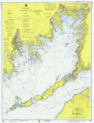 NOAA Historical Map and Chart Collection - Nautical Chart - Buzzards Bay ca. 1974