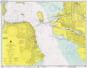 NOAA Historical Map and Chart Collection - Nautical Chart - San Francisco Bay ca. 1975