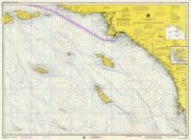 NOAA Historical Map and Chart Collection - Nautical Chart - San Diego to Santa Rosa Island ca. 1975