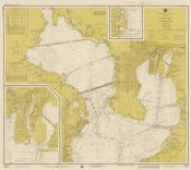 NOAA Historical Map and Chart Collection - Nautical Chart - Tampa Bay - Northern Part ca. 1975 - Sepia Tinted