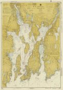 NOAA Historical Map and Chart Collection - Nautical Chart - Narragansett Bay ca. 1975 - Sepia Tinted