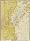 NOAA Historical Map and Chart Collection - Nautical Chart - Portland Harbor and Vicinity ca. 1974 - Sepia Tinted