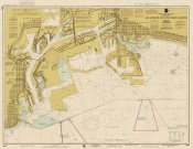 NOAA Historical Map and Chart Collection - Nautical Chart - Los Angeles and Long Beach Harbors ca. 1998 - Sepia Tinted