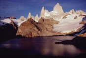 Tui De Roy - Fitzroy Massif with sunrise glow on granite spires, Los Glaciares NP, Argentina