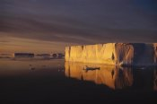 Tui De Roy - Tabular icebergs at sunrise, Antarctic Sound, Antarctica