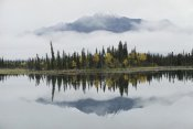 Michael Quinton - Alaska Range reflected in Slana Slough in fall, Alaska