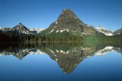 Tim Fitzharris - Sinopah Mountain reflected in Two Medicine Lake, Glacier NP, Montana
