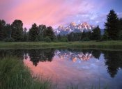 Tim Fitzharris - Grand Teton Range at Schwabacher Landing,  Grand Teton NP, Wyoming