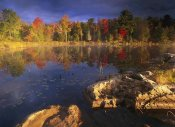 Tim Fitzharris - Lang Lake, fall colors, Ontario, Canada