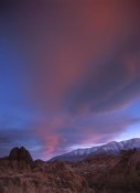 Tim Fitzharris - Sunrise over the Sierra Nevada Range seen from Alabama Hills, California