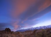 Tim Fitzharris - Sunrise seen over the Sierra Nevada Range from Alabama Hills, California