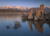 Tim Fitzharris - Wind and rain eroded tufa formations along shore of Mono Lake, California