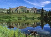 Tim Fitzharris - Ruby Peak reflected in lake, Raggeds Wilderness, Colorado