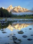 Tim Fitzharris - Grand Tetons reflected in water, Grand Teton National Park, Wyoming