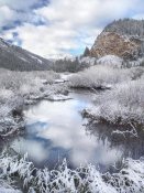 Tim Fitzharris - Boulder Mountains and Summit Creek dusted with snow, Idaho