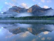 Tim Fitzharris - Fortress Mountain shrouded in fog, Kananaskis Country, Alberta, Canada