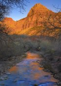 Tim Fitzharris - Bridge Mountain and the north fork of the Virgin River, Zion NP, Utah