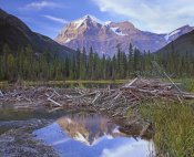 Tim Fitzharris - Beaver dam and Mount Robson, Mount Robson Provincial Park, BC, Canada