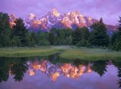 Tim Fitzharris - Grand Tetons at Schwabacher Landing, Grand Teton NP, Wyoming