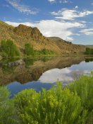 Tim Fitzharris - Cliffs reflected in lake, Curecanti National Recreation Area, Colorado