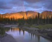 Tim Fitzharris - Rainbow over Fairholme Range and Exshaw Creek, Alberta, Canada