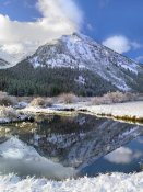 Tim Fitzharris - Phi Kappa Mountain reflected in river, Idaho
