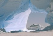 Konrad Wothe - Icebergs caught in frozen ice shelf, Weddell Sea, Antarctica