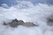 Konrad Wothe - Aerial view of Mt Kinabalu shrouded in clouds, Borneo, Malaysia