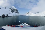 Konrad Wothe - Ship with tourists in Lemaire Channel, Antarctica