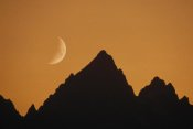 Gerry Ellis - Moon over Rocky Mountains, Grand Teton National Park, Wyoming