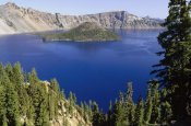 Gerry Ellis - Wizard Island  in Crater Lake National Park, Oregon