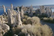 Gerry Ellis - Eroded tufa formations along shore of Mono Lake, California