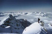 Colin Monteath - Climber on the summit of Mt Shinn, Ellsworth Mountains, Antarctica