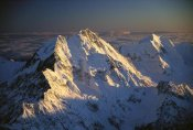 Colin Monteath - Eastern faces of Mt Cook, and Mt Tasman at dawn, New Zealand