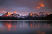 Colin Monteath - Cuernos del Paine at dawn and Lago Pehoe, Torres del Paine NP, Patagonia, Chile