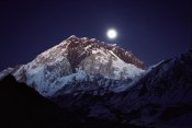 Colin Monteath - Moon over Nuptse from Lobuche, Khumbu region, Nepal