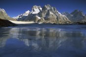 Colin Monteath - Cathedral Peaks at dawn reflected in Baltoro Glacier, Karakoram, Pakistan