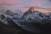 Colin Monteath - Cerro Torre and Fitzroy at dawn, Los Glaciares NP, Patagonia, Argentina