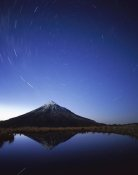 Harley Betts - Star trails around the south celestial pole over Mt Taranaki, New Zealand